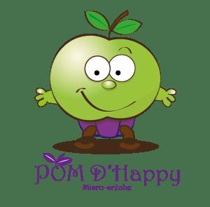 création du logo Pom d'Happy